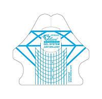 Универсальные формы шаблоны для ногтей GELLIANT Синий+прозрачный 50 шт,Velena