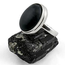 Бяньши черный нефрит, серебро 925, кольцо, 149КБ