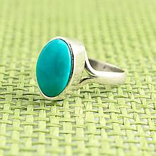 Бирюза, серебро 925, кольцо, 879КБ
