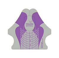 Универсальные формы шаблоны для ногтей VELENA Фиолетовый+серебро 100 шт,Velena