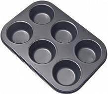 Форма для випічки кексів 6 шт тефлон