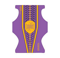 Универсальные формы шаблоны для ногтей VELENA Cтилет Фиолетовый+желтый+черный 50 шт,Velena