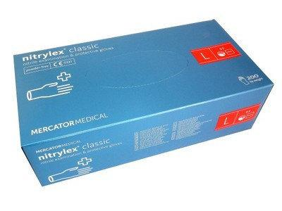 Рукавички нітрилові, неопудрені Mercator Medical Nitrylex Classic розмір L - 100 шт Синій