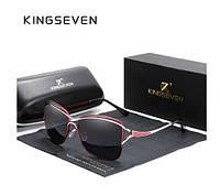 Женские солнцезащитные очки в классической оправе с градиентными линзами Butterfly N7017 KINGSEVEN Италия