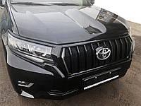 Решетка 2017 LED (Zeus Black, с Black ресничками) Toyota LC 150 Prado / Тюнинг решетки Тойота Ленд
