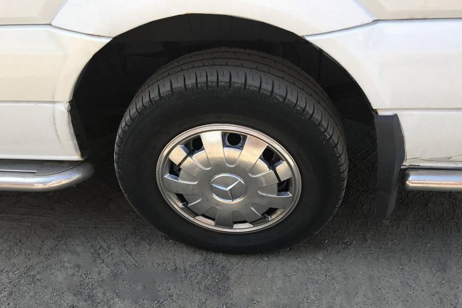 Колпаки из нержавейки Лепестки (1 катк., 4 шт) Volkswagen Crafter 2006-2017 гг. / Хром колпаки Фольксваген