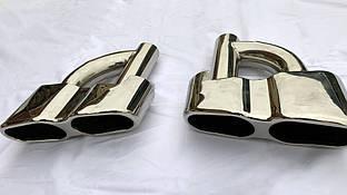 Насадки на глушитель AMG S65 Mercedes S-klass W221 / Насадки на глушитель Мерседес Бенц S-klass W221