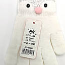 Перчатки для девочек трикотаж с аппликациями, фото 3