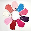 Перчатки для девочек трикотаж с аппликациями, фото 2