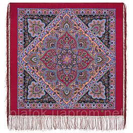 Свет в окошке 1919-6, павлопосадский платок шерстяной  с шелковой бахромой
