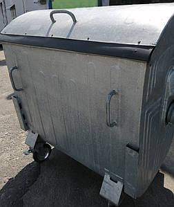 Б/У оцинкованый мусорный бак 1,1 м3.