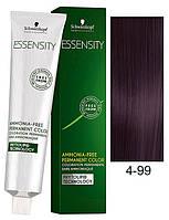 Безаммиачная краска Schwarzkopf Professional Essensity, 60 мл 4-99 Средне-коричневый фиолетовый экстра
