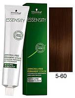Безаммиачная краска Schwarzkopf Professional Essensity, 60 мл 5-60 Светло-коричневый шоколадный натуральный