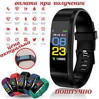 Умные smart смарт фитнес браслет часы трекер как Xiaomi Mi band ПОШТУЧНО на Русском Huawei Samsung 115 Plus