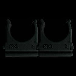 """Кріплення """"скоба"""" для г/т труб D 25 mm чорний (внут. уп.100шт) (50/10ящ) ТМ СПЕКТР LUX"""