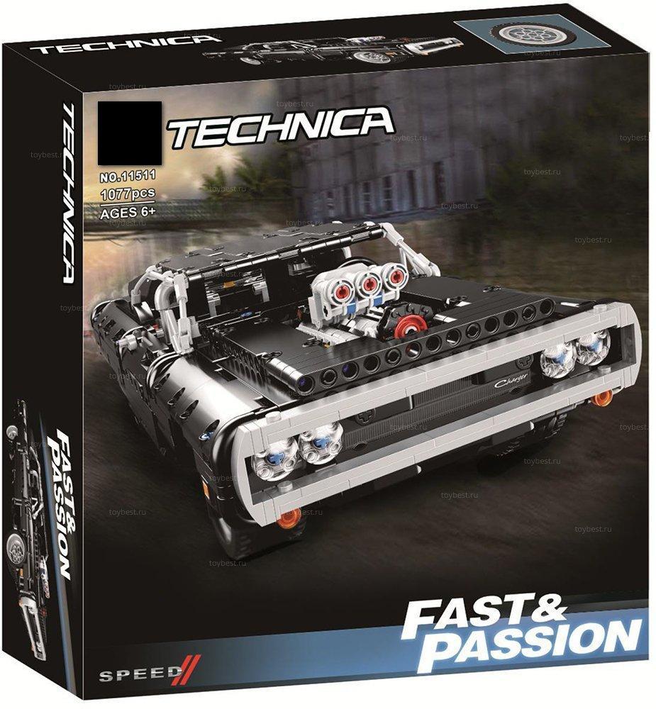Конструктор 11511 Dodge Charger Доминика Торетто 1077 деталей