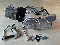 Двигатель 110 куб. механика без стартера на мопед Дельта, Альфа, Актив.