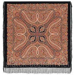 Великолепный век 1867-18, павлопосадский платок (шаль, крепдешин) шелковый с шелковой бахромой