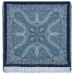 Чудовий століття 1867-11, павлопосадский хустку (шаль, крепдешин) шовковий з шовковою бахромою