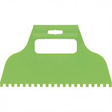 Шпатель  пластмасовий  зубчастий для клею 6х6 мм,  Сибртех