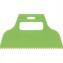 Шпатель  пластмасовий  зубчастий для клею 4х4 мм,  Сибртех