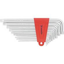 Набір ключів імбусових TORX, 9 шт: T10-T50, CrV, подовжені, сатин, МТХ