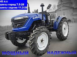 Трактор Garden Star 454 LXL Premium 45 л.с, полноприводной, блокировка колес, стильный дизайн минитрактора