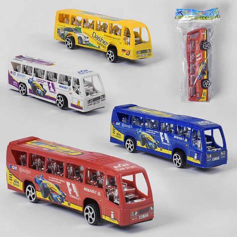 Автобус 727 (1200/2) 4 цвета, инерция, в кульке, фото 2