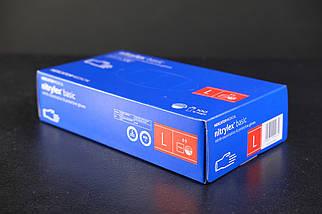 Перчатки нитриловые Mercator Medical, цвет Синий, Размер L (100 шт.), фото 3