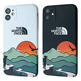 Защитный чехол для Apple iPhone IMD Print Case The North Face Aurora, фото 2