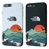 Защитный чехол для Apple iPhone IMD Print Case The North Face Aurora, фото 4