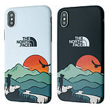 Защитный чехол для Apple iPhone IMD Print Case The North Face Aurora, фото 5