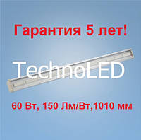 Светодиодный светильник для СТО 60 Вт 5000 К 1010 мм 160 Лм/Вт IP 65