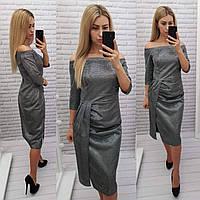 Новогоднее платье, арт 409, цвет металлик, фото 1