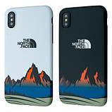 Защитный чехол для Apple iPhone IMD Print Case The North Face Mountains, фото 6