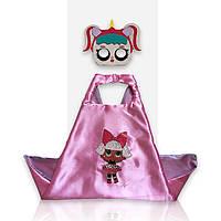 Костюм в стиле кукол LOL розовый плащ + маска (4096)