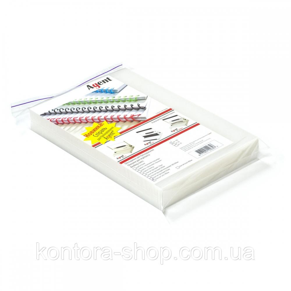 Обложки пластиковые А4 400 мкм бесцветные (100 штук)