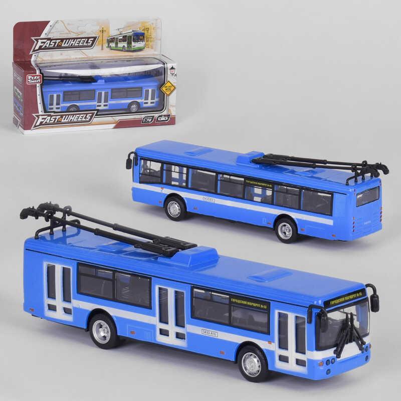 "Троллейбус металлопластик 6407 В (96/2) ""Play Smart"" инерция, в коробке"