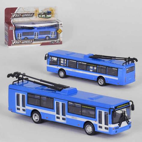 "Троллейбус металлопластик 6407 В (96/2) ""Play Smart"" инерция, в коробке, фото 2"