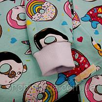 Детская теплая пижамка с начесом пончики Five Stars KD0403-116p, фото 3