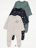 Хлопковый слип с ножками Gеоrgе  3-6м 62-68см, фото 5