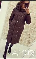 Жіноча зимова куртка-пальто синтепон 200 норма і батал новинка 2020, фото 1