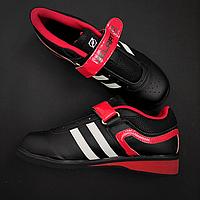 Штангетки кросівки для важкої атлетики пауерліфтингу гирьового спорту ZELART PU червоні (СПО OB-1263) 39