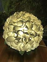 Светильник ночник Гортензия белая Оригинальный подарок ручной работы, фото 1