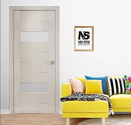 Дверное полотно Женева со стеклом Орни-Х