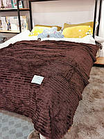 Плед покрывало Шарпей 200х220 Евро / Плед на кровать / Плед-Покрывало / Плед полоска