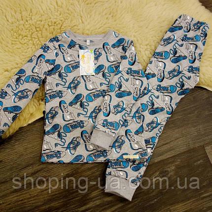 Детская теплая пижамка с начесом кеды Five Stars KХ0404-98p, фото 2