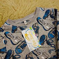 Детская теплая пижамка с начесом кеды Five Stars KХ0404-98p, фото 3