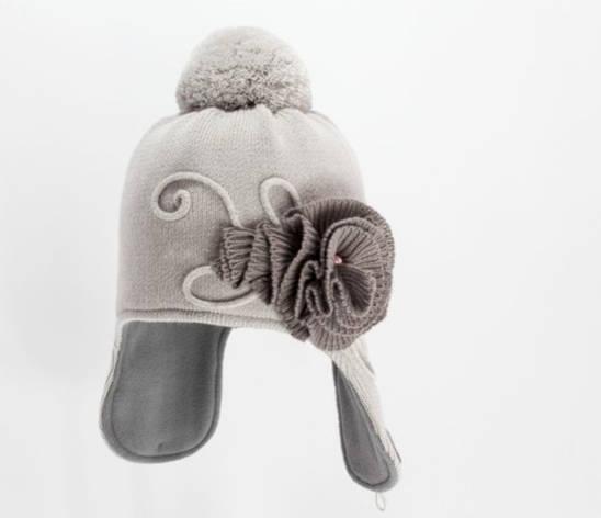 Теплая практичная модная шапочка на флисе, закрывающая уши., фото 2