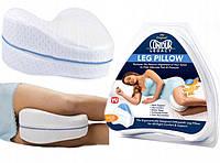 Подушка ортопедическая для ног CONTOUR LEG PILLOW Белый